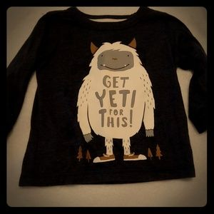 Long sleeve yeti tee